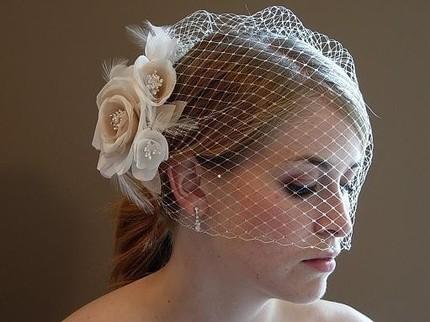 diy birdcage veil 1