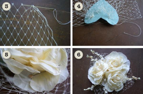diy birdcage veil 5
